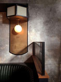 OLIVER ROYALE — HOME STUDIOS Terrace Restaurant, Restaurant Design, Bar Interior, Interior Walls, Bath Light, Home Studio, Home Design, Light Decorations, Lighting Design