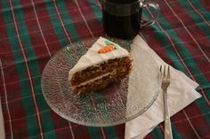 Carrot Cake, free of gluten, with a cup of coffee. The typical feast of a Terra Java dweller