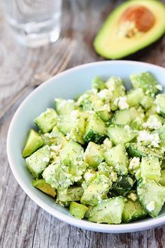 Mom On A Mission: Cucumber, Avocado, and Feta Salad