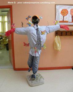 Pouvantails bricolages enfants pinterest - Fabriquer un epouvantail a oiseaux ...
