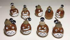 Acorn Crafts, Pine Cone Crafts, Totoro, Pine Cones, Yahoo, Christmas Ornaments, Holiday Decor, Flowers, Handmade
