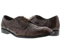 Men's dress shoes brown genuine crocodile alligator skin oxfords loafers exotic