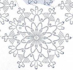 Large crochet motif chart star shape