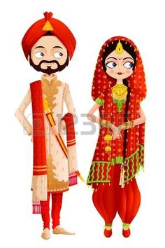 Illustration about Easy to edit vector illustration of Sikh wedding couple. Illustration of ethnic, cultural, design - 30667129 couple punjabi Sikh Wedding Couple stock vector. Illustration of bridal - 30667129 couple cartoon