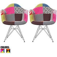 chaise fauteuil rar patchwork d\'inspiration charles eames | pour ... - Chaise A Bascule Eames 2