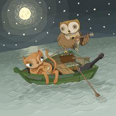 The Owl & The Pussycat by Mark Frudd, via Behance