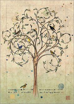 oiseau Arbre