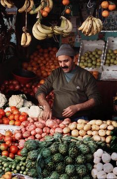 Morocco veggies vendor