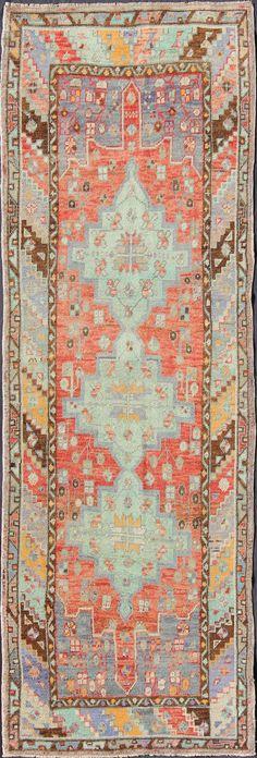 """Turkish Oushak rug, 3'2"""" X 9'1"""", ca 1940, Keivan Woven Arts Gallery"""
