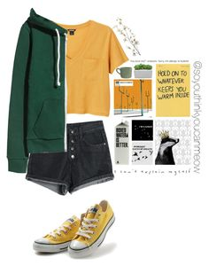 """""""Is This Dodie Yellow?"""" by soyouthinkyoucanmeow on Polyvore featuring Monki, Converse, Pier 1 Imports and canvas"""