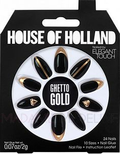 z.House Of Holland Nails By Elegant Touch - GHETTO GOLD #houseofholland #eleganttouch #madamemadeline