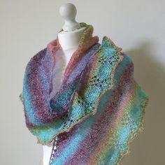 Shawl Knitting Pattern : Midsummer Nights Shawl