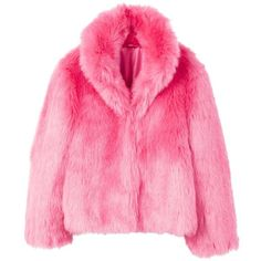 Lapels Faux Fur Coat (£90) ❤ liked on Polyvore featuring outerwear, coats, imitation fur coats, fake fur coats, turtleneck tops, pink fake fur coat and mango coats