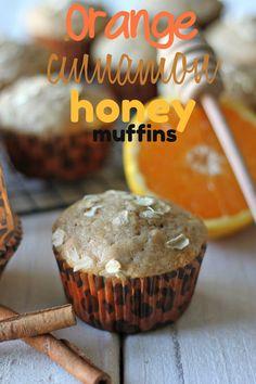 Orange Cinnamon Honey Muffins