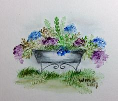 Pen And Watercolor, Watercolor Flowers, Watercolor Paintings, Water Color Markers, Art Impressions Stamps, Watercolor Christmas Cards, Pastel, Country Art, Learn To Paint