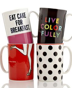 Kate Spade mugs @Beth Carwile i want these for christmas!!!!!!!!!!!!!!!
