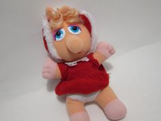 Vintage Baby Muppets MISS PiGGY CHRiSTMAS TOYS 80s toy Mcdonalds Happy Meal Toys