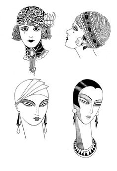 Gents and Flappers by Sveta Dorosheva, via Behance hair combs at Ruby Lane www.rubylane.com @rubylanecom #vintagebeginshere