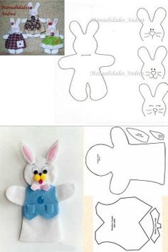 Fantoche bunny finger puppets