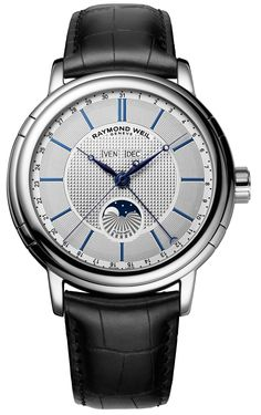 Discover a large selection of Raymond Weil Maestro watches on - the worldwide marketplace for luxury watches. Compare all Raymond Weil Maestro watches ✓ Buy safely & securely ✓ Dream Watches, Cool Watches, Men's Watches, Black Watches, Stylish Watches, Wrist Watches, Raymond Weil, Expensive Watches, Luxury Watches For Men