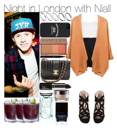 """Night in London with Niall"" by kiksfashion ❤ liked on Polyvore featuring Miu Miu, Topshop, Zimmermann, ASOS, Chanel, Urban Decay, By Terry and Butter London"