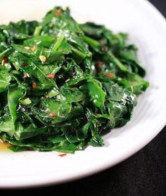 Sauteed Collard Greens. Leafy cruciferous greens are the healthiest thing for you!