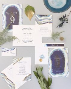 Gilt Agate Wedding Suite by Kaydi Bishop - Photo by Chudleigh Events  @minted #weddinginvitations