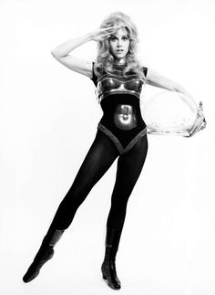 The beautiful and very young Jane Fonda as the space vixen Barbarella!