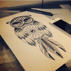 #searchtattoo Da série o #japa ➡️ @yukiotattoo nao para de desenhar #coruja ❤️❤️