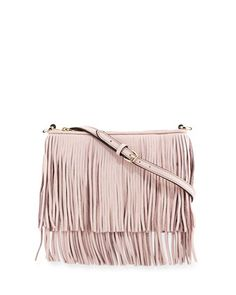 Finn+Leather+Fringe+Crossbody+Bag,+Baby+Pink+by+Rebecca+Minkoff+at+Neiman+Marcus.