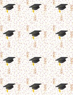 Graduation Scrapbook Paper and Embellishments free graduation scrapbook paper with mortarboards, confetti and streamers. free graduation scrapbook paper with mortarboards, confetti and streamers.