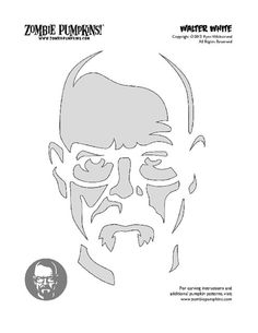 Walter White Pumpkin Stencil I bought - feel free to use!