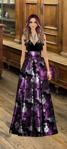 Covet Fashion, Look Fashion, Fashion Art, Fashion Design, Dinner Gowns, Evening Dresses, Formal Dresses, Fashion Dress Up Games, Fashion Dresses