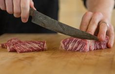A fun, sophisticated way to enjoy our Waygu, this Salt Block Seared Strip Steak recipe brings everyone into preparation for a dynamic & delicious experience. Tri Tip Steak Recipes, Beef Recipes, Cooking Recipes, Salt Block Cooking, Cooking Hard Boiled Eggs, How To Cook Brisket, Kobe Beef, Cooking Oatmeal, Beef Strips