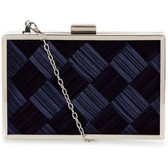 Navy Bridal Ruched Sateen Box Clutch ($20) ❤ liked on Polyvore featuring bags, handbags, clutches, navy, navy clutches, hard clutch, bridal handbag, bridal purse and blue handbags