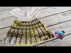 Robe bébé crochet 1/2 / Baby dress crochet (english subtitles) - YouTube