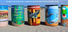 #REMAX Elite realtors founded non-profit Creative Cans in the Sand, a program where local artists paint scenes and art on the trash cans found on the beach.
