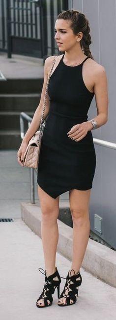 #spring #fashionistas #outfit #ideas |Asymmetrical LBD | Vanilla Extract
