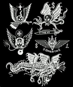 RPT13 (Inverse) - Vulture Graffix) - Printed T shirts from $9.35US plus postage. Tattoo Flash | Mail Order T Shirt, #Russian #Prison #Tattoos #Psychobilly #Rockabilly #ink #flash #tattoo #Vintage Tattoo Designs #TShirt #Punk  #Retro #Clothes #Soviet #Gulag #Siberia Russian Prison Tattoos, Tattoo Vintage, Vulture, Psychobilly, Tattoo Flash, Rockabilly, Tatting, Tattoo Designs, Punk