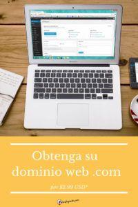 Obtenga su dominio web .com Blog, Blogging