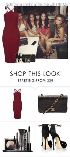 """""""Night Out in London at the Club with Little Mix"""" by elise-22 ❤ liked on Polyvore featuring Oh My Love, Chanel, LORAC and Jimmy Choo"""