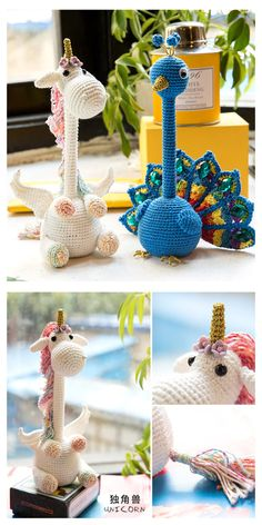 Sewing Stuffed Animals, Stuffed Animal Patterns, Crochet Pillow Pattern, Crochet Patterns, Crochet For Kids, Diy Crochet, Crochet Disney, Crochet Unicorn, Crochet Books