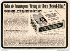 Original-Werbung/Inserat/ Anzeige 1912 - NEURA LECITHIN NERVEN-PILLEN ca. 180 X 130 mm
