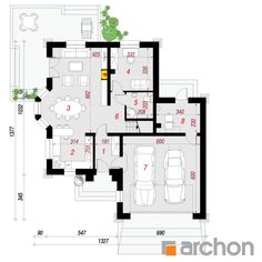 Projekt domu Dom w rukoli (G2) - ARCHON+ House Plans, Floor Plans, How To Plan, Design, Website, American Houses, House Floor Plans, Home Floor Plans