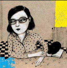 Bookworm there any here? /Hay alguna rata de biblioteca por aquí? (ilustración de Bobi & Bobi)