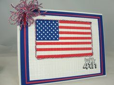 Paper Creations by Nilda: Happy 4th : embedded embossing technique
