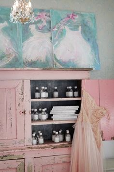 the pink cupboard