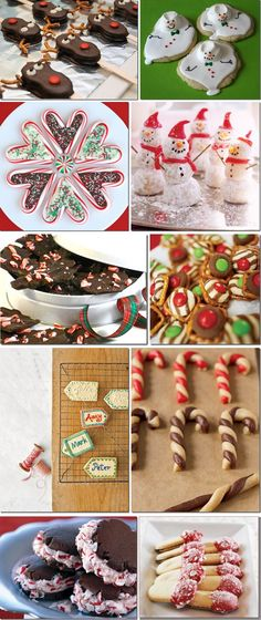Several very cute Christmas cookie ideas/recipes