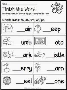 Blending sounds Worksheets for Kindergarten. √ Blending sounds Worksheets for Kindergarten. Spring Math and Literacy Centers Plus A Freebie Phonics Worksheets Grade 1, Kindergarten Worksheets, Printable Worksheets, Blends Worksheets, Digraphs Worksheets, Grade 1 Maths, Ks2 English Worksheets, Jolly Phonics Activities, Kids Phonics