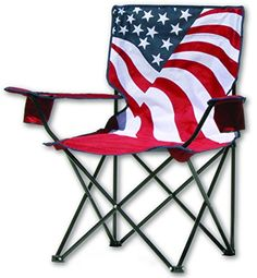 Quik Chair US Flag Folding Chair. For product info go to:  https://all4hiking.com/products/quik-chair-us-flag-folding-chair/